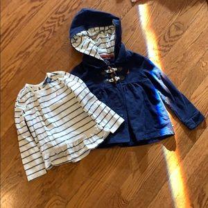Nautica jacket and shirt size 4T